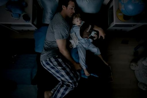 drew brees in bed with son