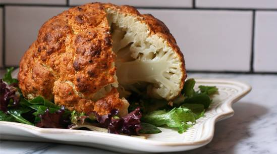 Spicy Roasted Whole Cauliflower