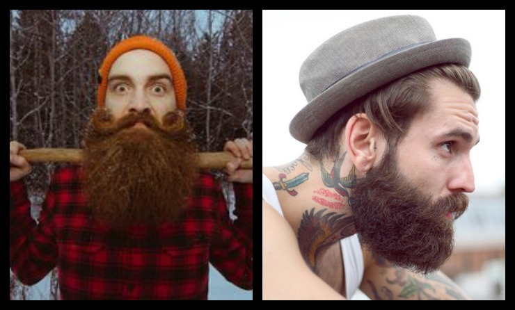 LumberjackHipster Beard Collage