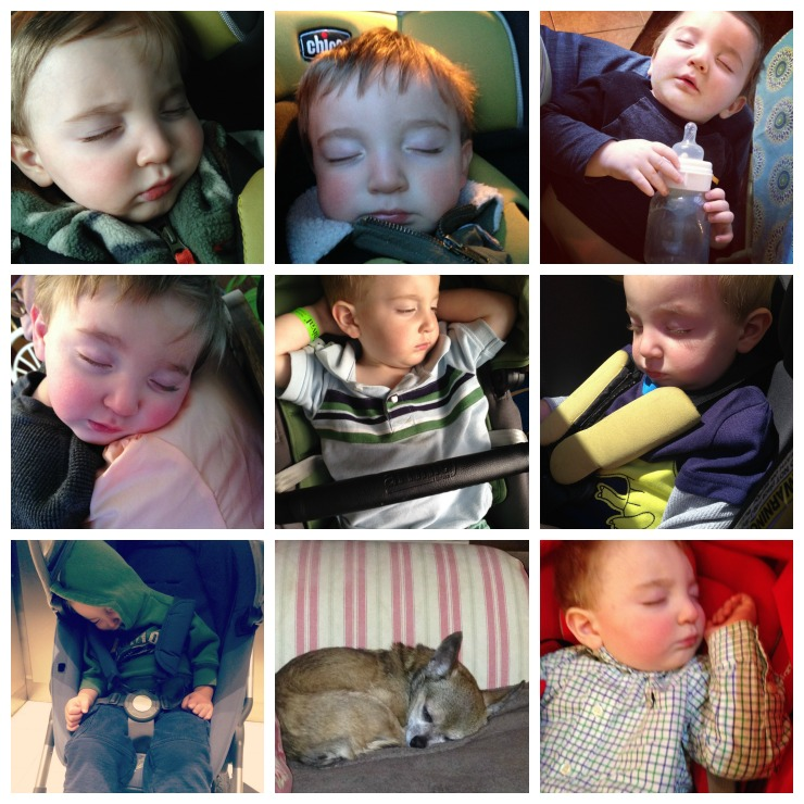 Caleb Sleeping Collage 1