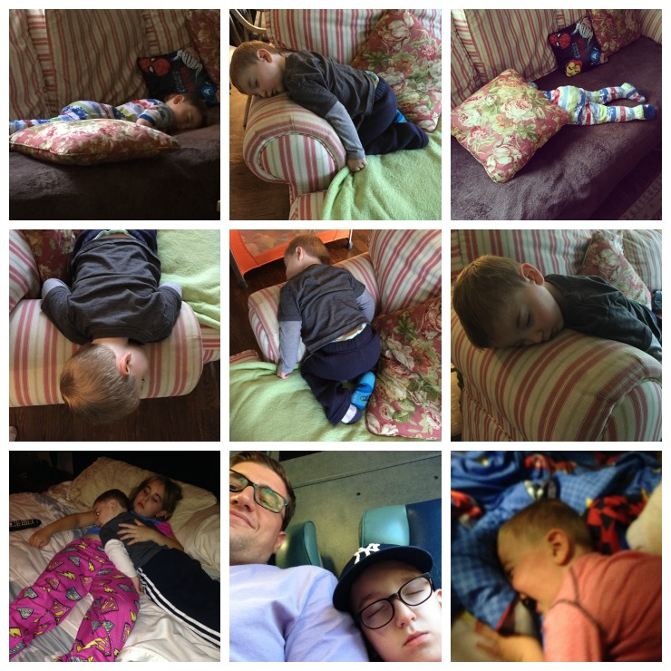 Caleb Sleeping Collage 2