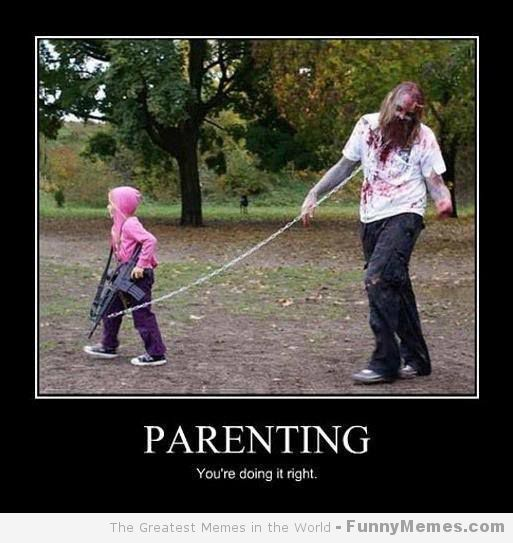 Kid and zombie