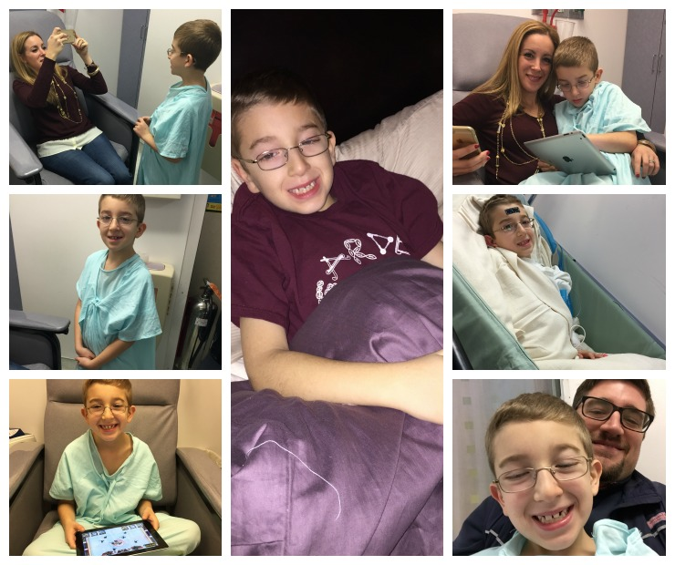 Liam Appendectomy 2014 Collage