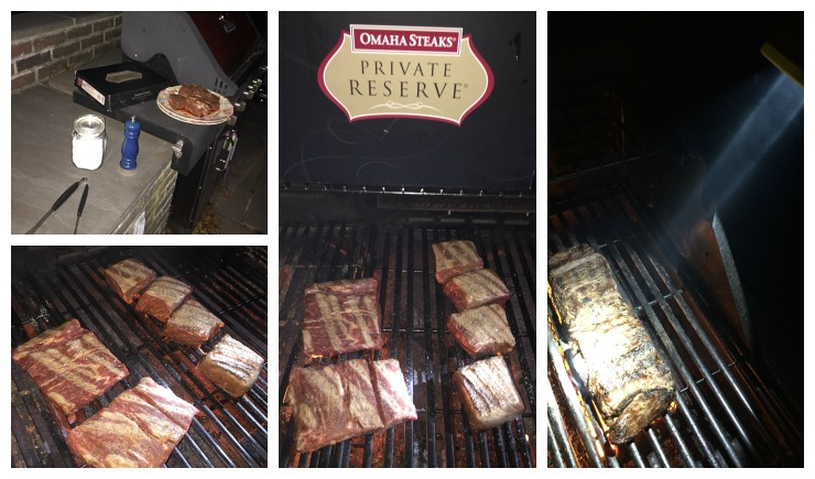 Omaha Steaks Grilling Collage