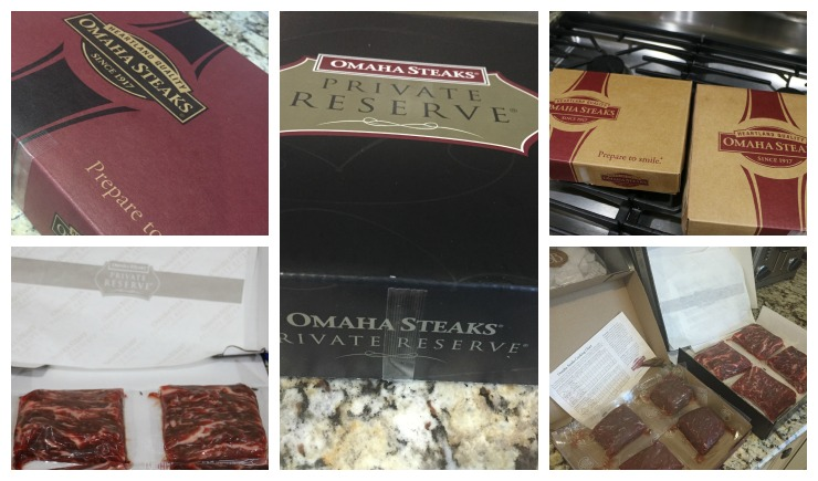 omaha steaks package collage