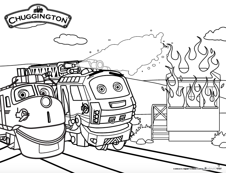 Chugginton Fire Patrol Coloring Sheet