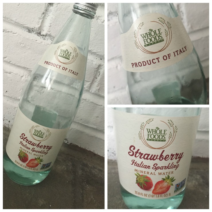 Whole Foods Italian Sparkling Moneral Water Collage