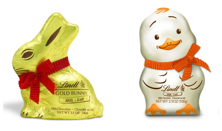 Lindt Easter Bunny and Chick Collage