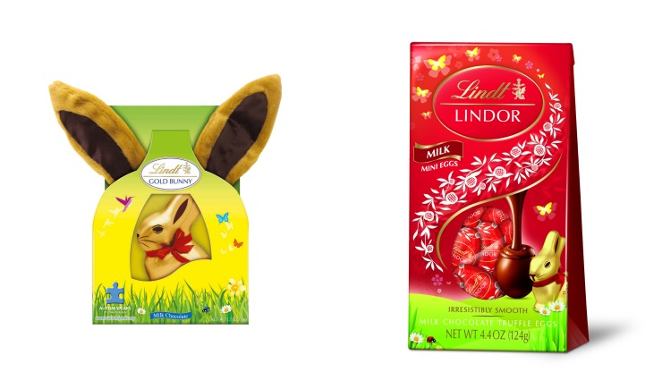 Lindt Easter Ears and Mini Eggs Collage