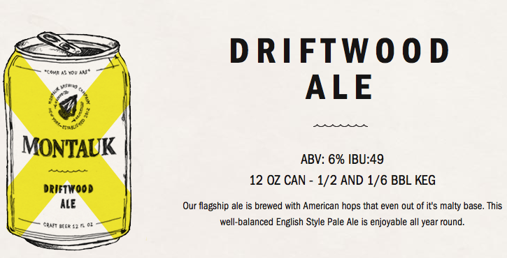 Montauk Brewing Co. Driftwood Ale facts