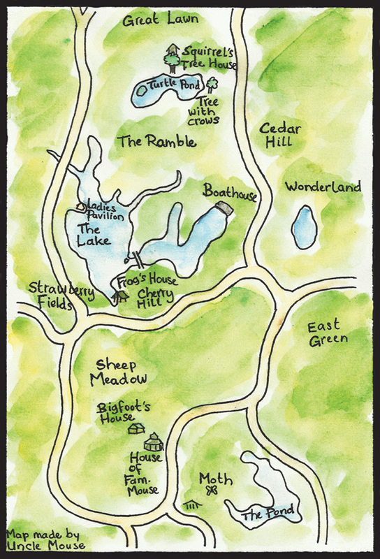 Central Park Tales Map