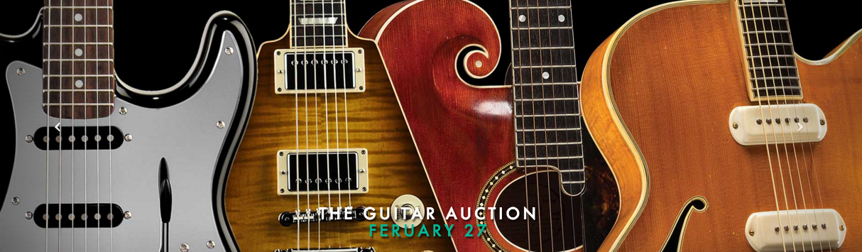 Guernsey's Guitar Auction 2/27/16