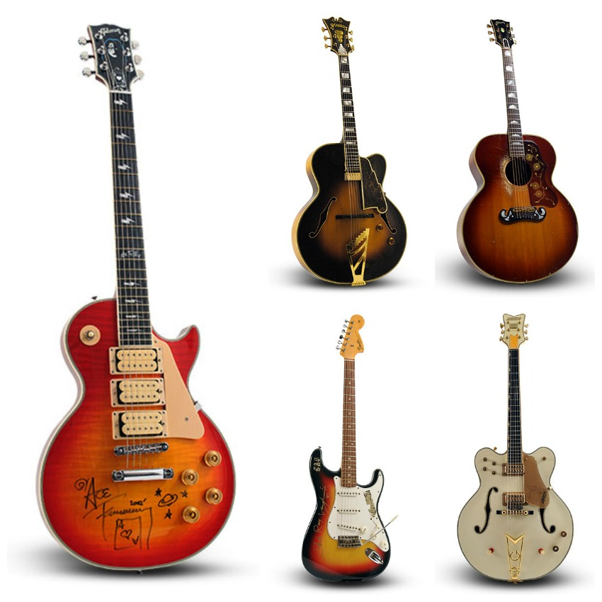 guernseys guitar auction Collage