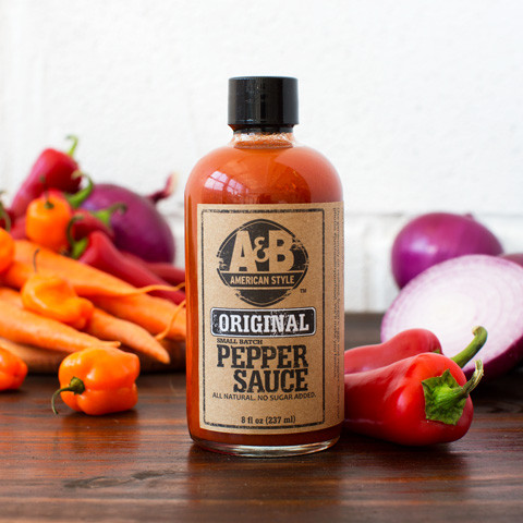 A & B Hot Sauce Original Bottle