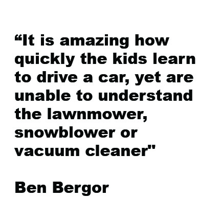 Bergor parenting quote car