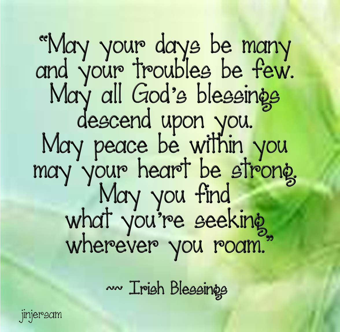 irish blessing wherever you roam