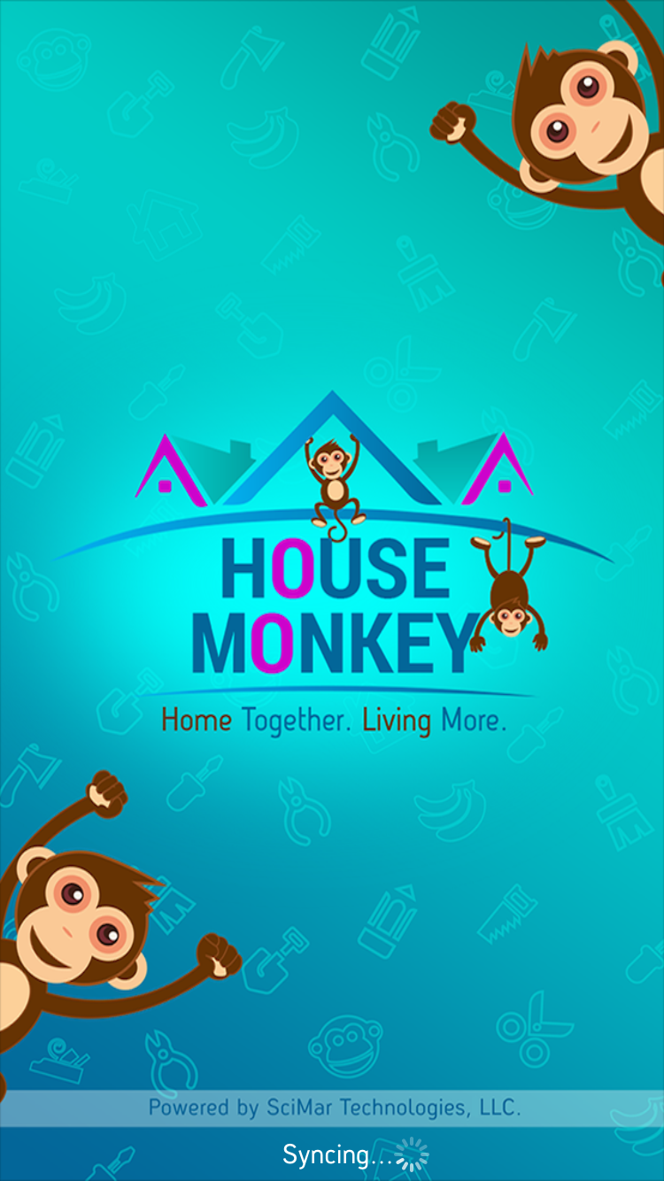 House Monkey App Screen Home