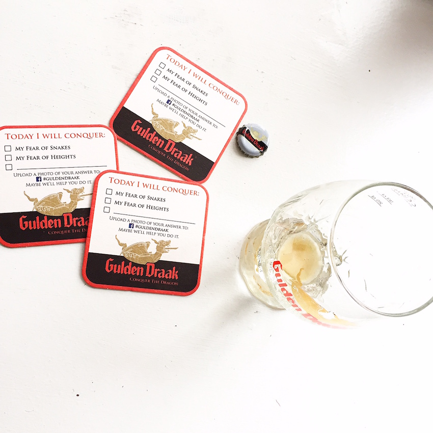Gulden Draak Done with Coasters