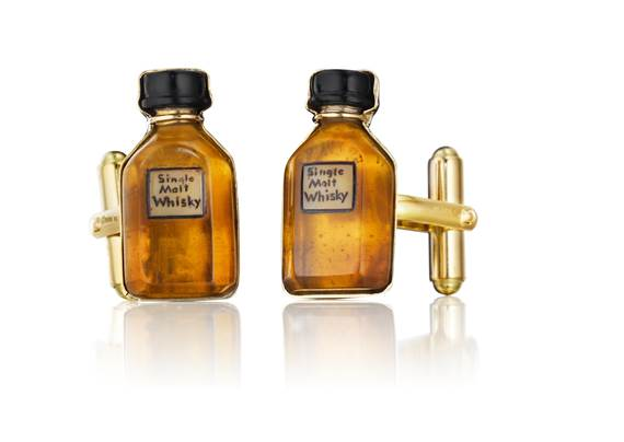 MimiSo Cufflinks - Whiskey Bottles