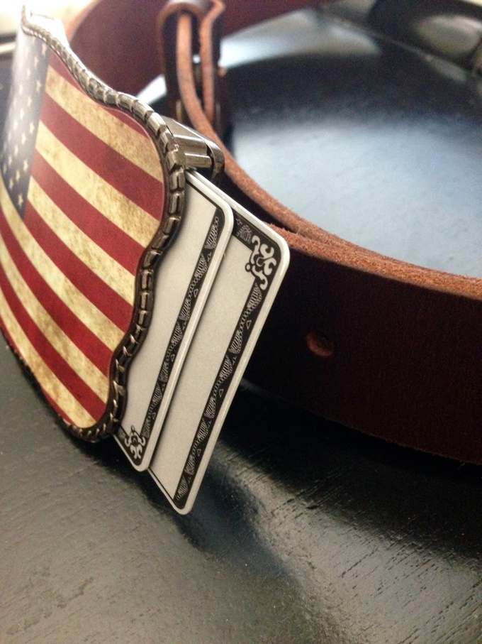 Wallet Buckle America Side