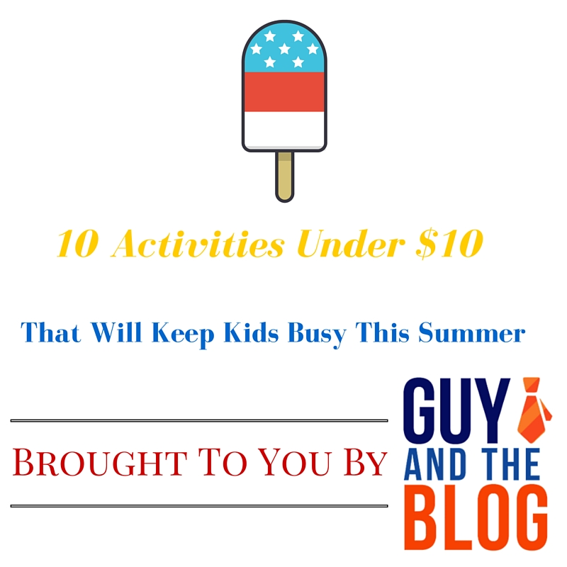 Summer activities under $10 graphic