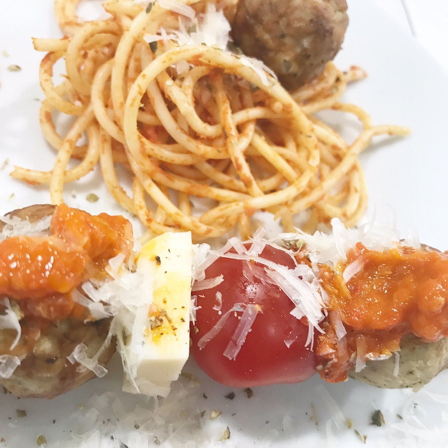 Cooked Perfect Italian Style Chicken Meatball with ...
