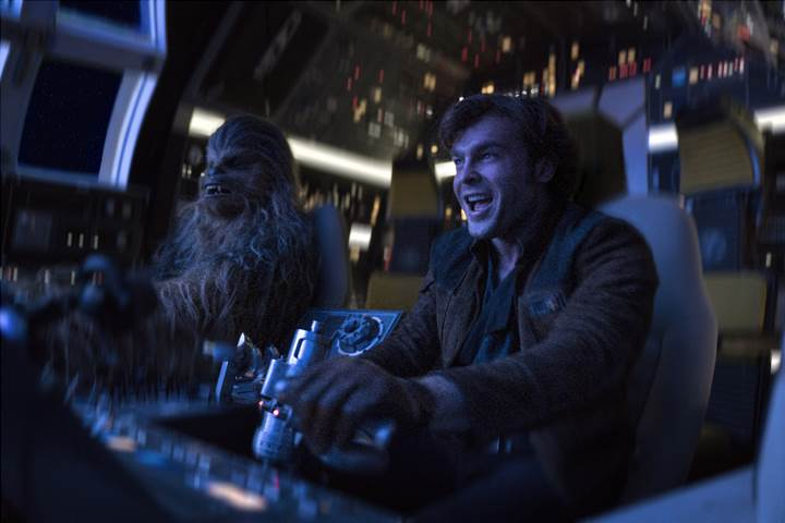 Han Solo and Chewbacca pilot Solo: A Star Wars Story