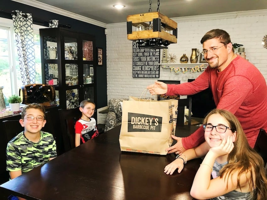 Dickey's Barbecue Pit Family Pack with kids