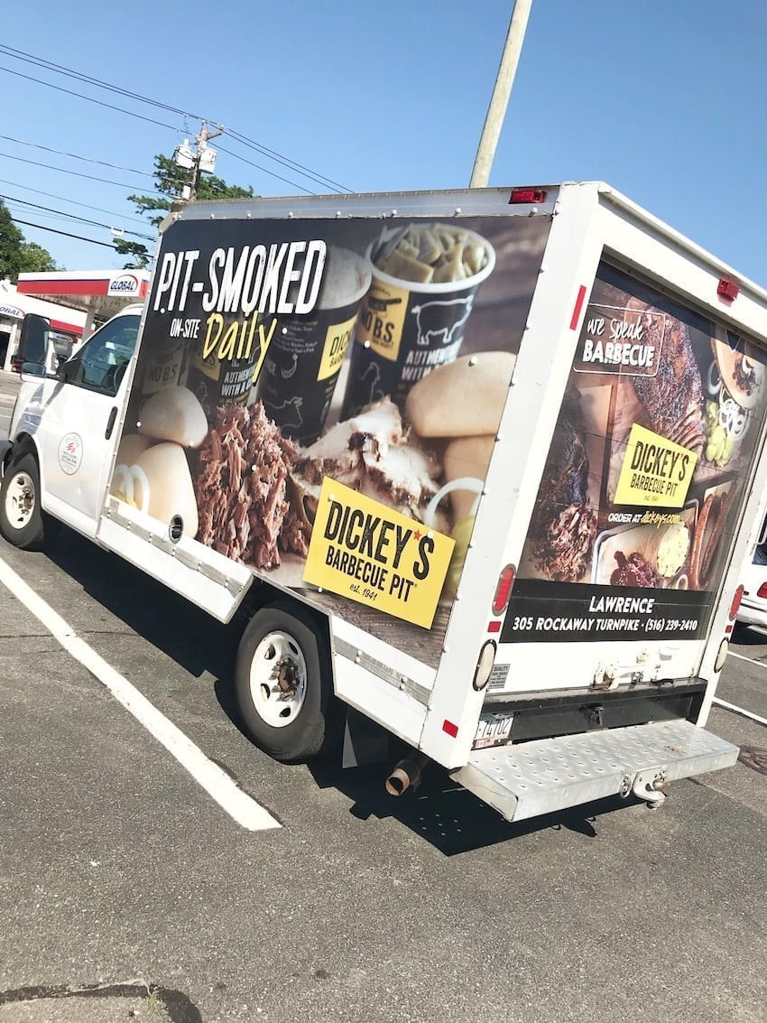 Dickey's Barbecue Pit delivery truck