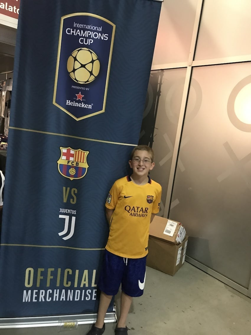 International Champions Cup 2017 FC Barca and Juventus poster