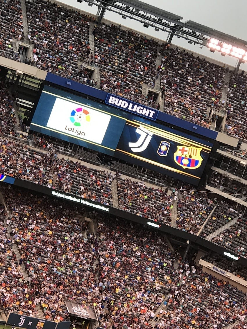 International Champions Cup 2017 FC Barca and Juventus scoreboard