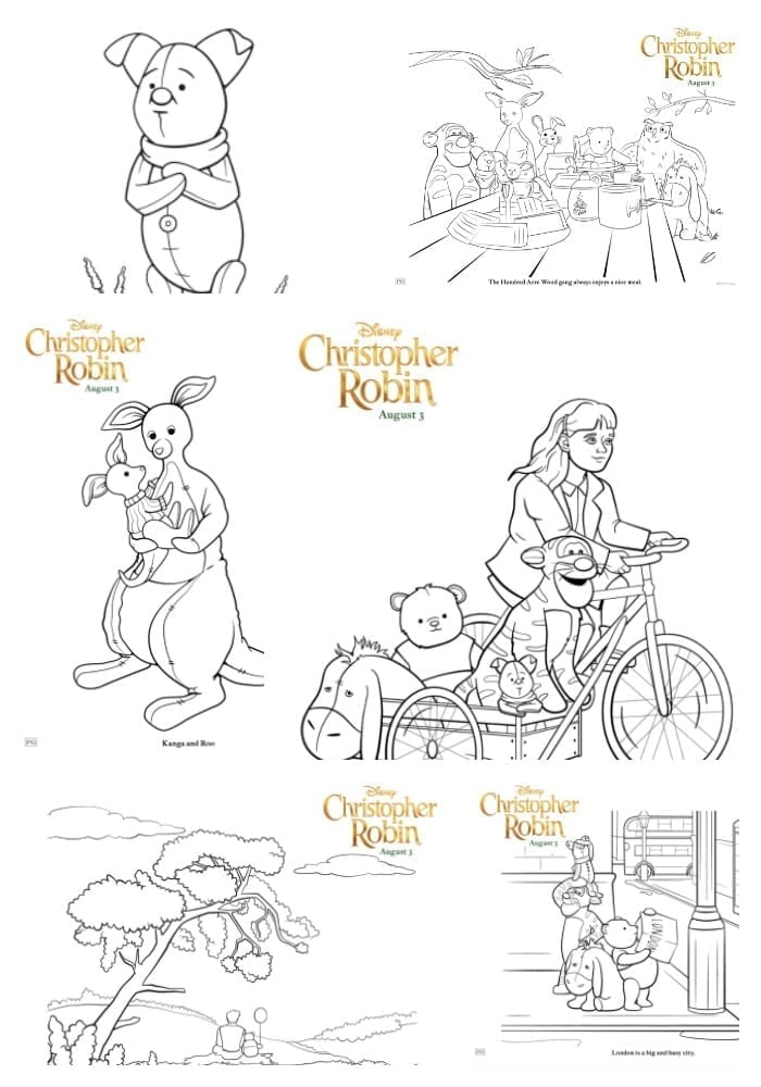 Christopher Robin Coloring Page Image