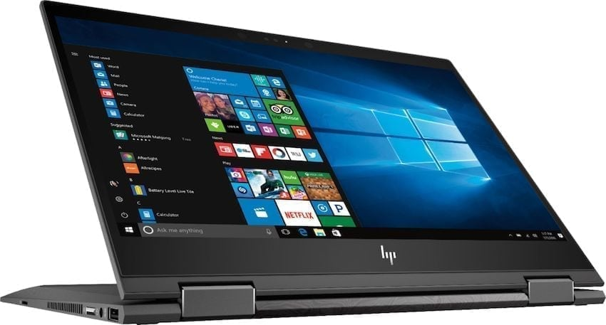 HP Envy X360 flipped around view