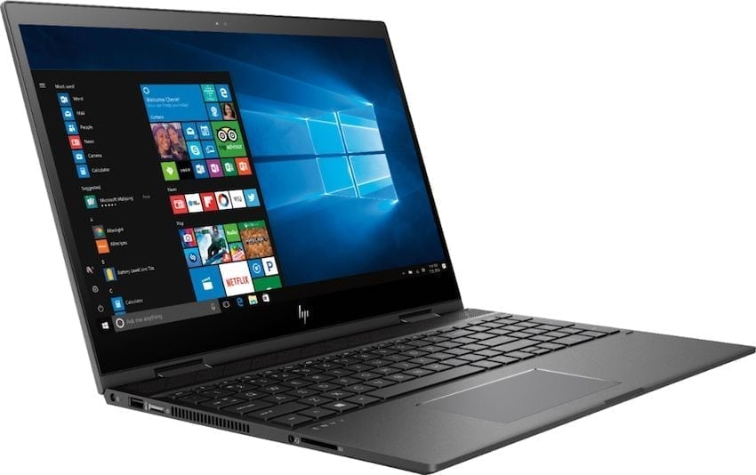 HP Envy X360 full side view