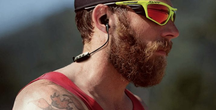 Jaybird wirless sport headphones James Lawrence triathlete
