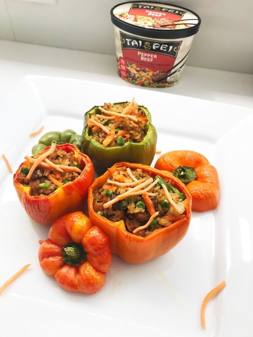 Pepper Steak stuffed in Bell Peppers