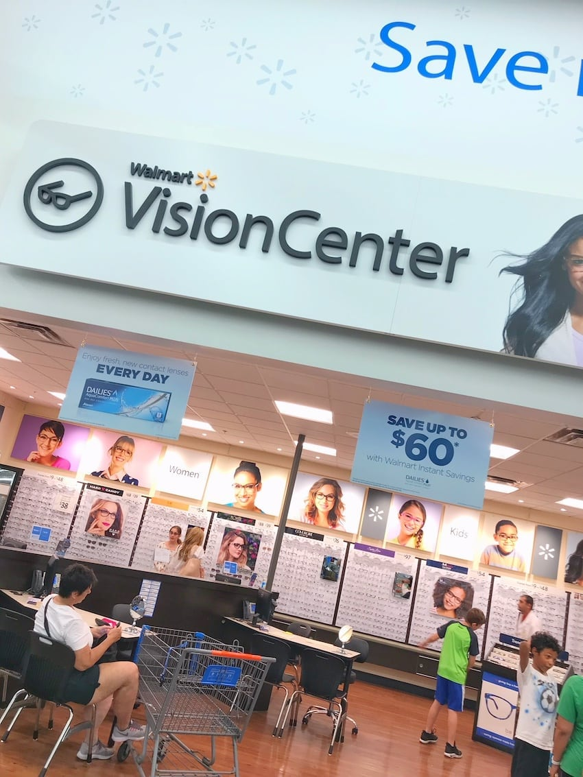 Walmart Vision Center in store