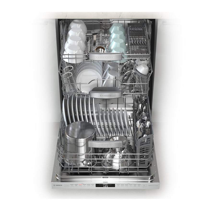 Bosch 800 Dishwasher MyWay 3 rack loaded
