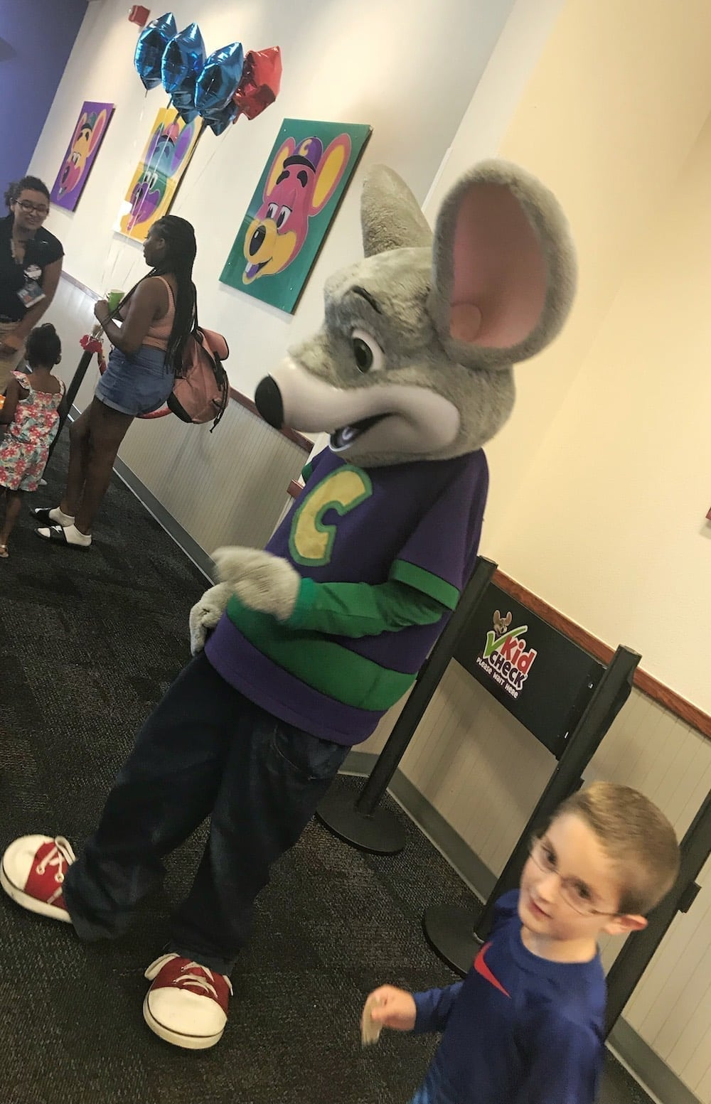 Chuck E Cheese's in person with my son