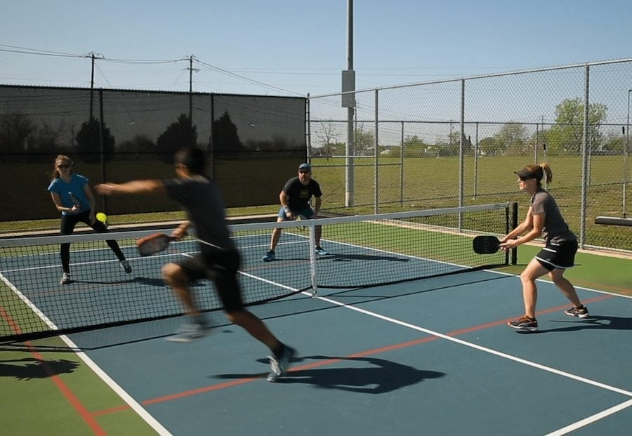 indie do good pickle ball action