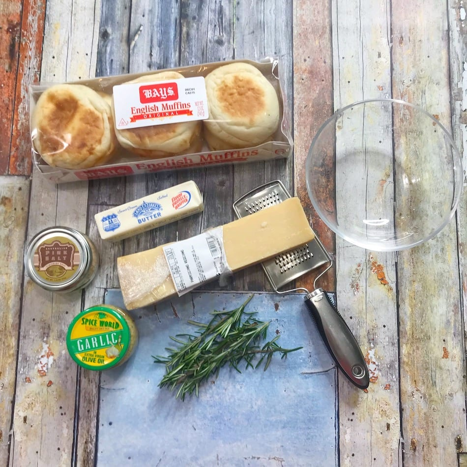 Bays English Muffins - Rosemary Crisps and Parmesan Crisps Ingredients