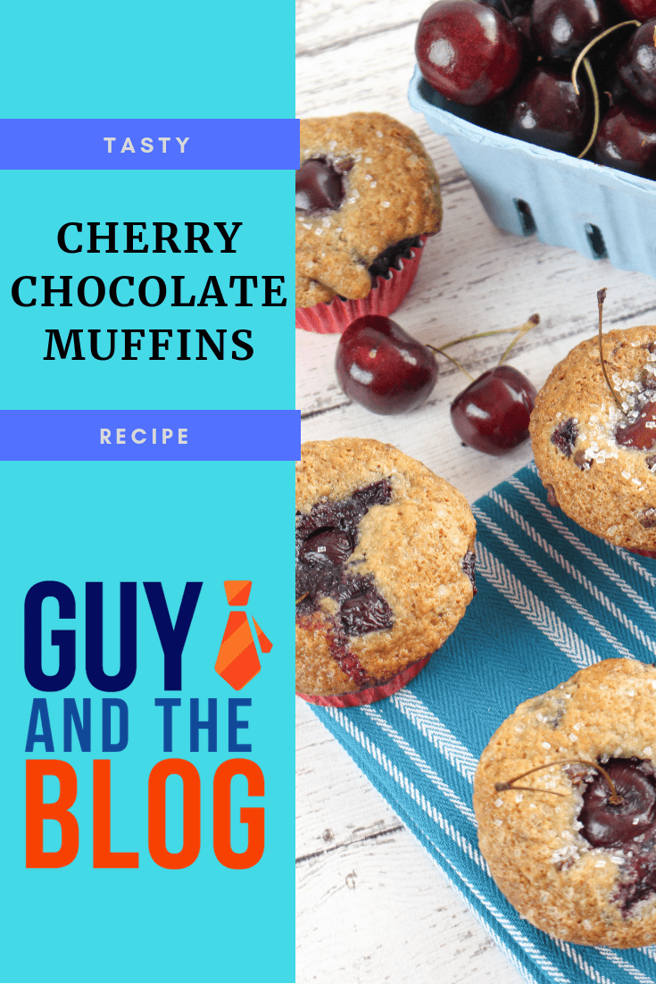 Cherry Chocolate Muffin Recipe Pinterest Graphic