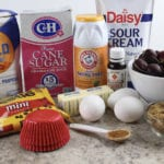 Chocolate Cherry Muffin - ingredients