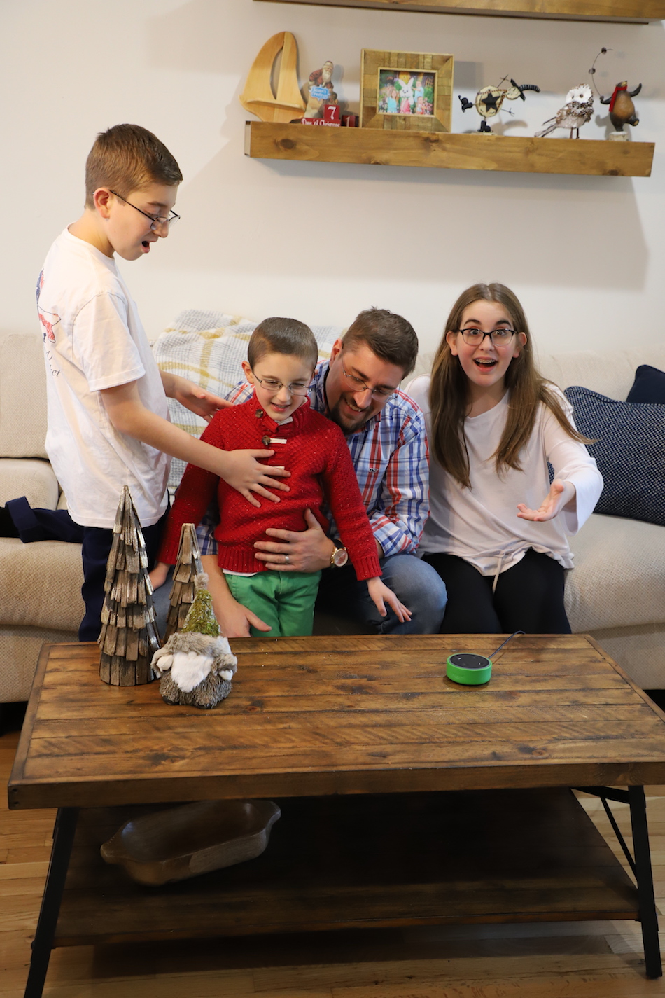 Amazon Echo Dot Kids Edition - family time