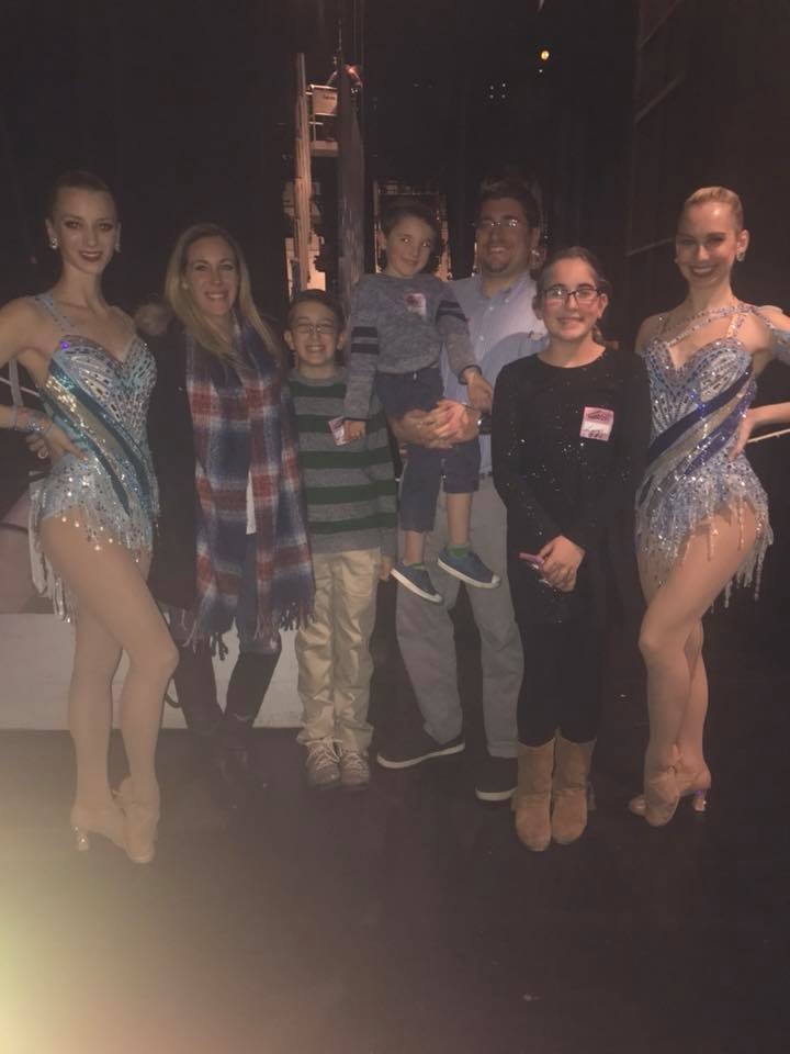 family with rockettes