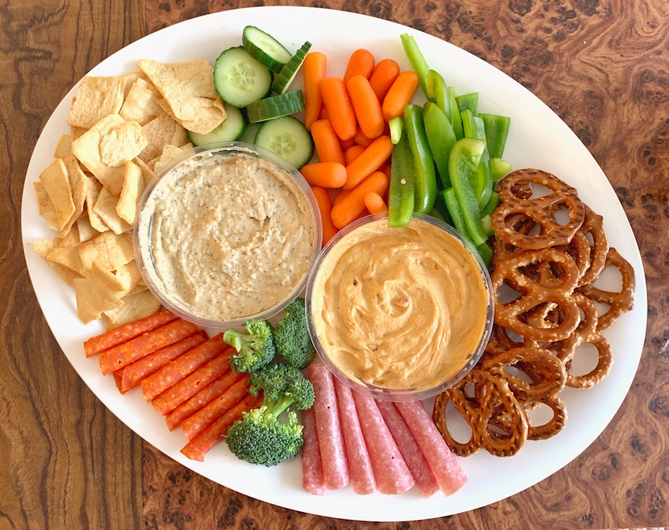 Boar's Head Hummus - savory platter top