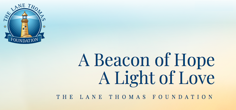 Lane Thomas Foundation logo and motto