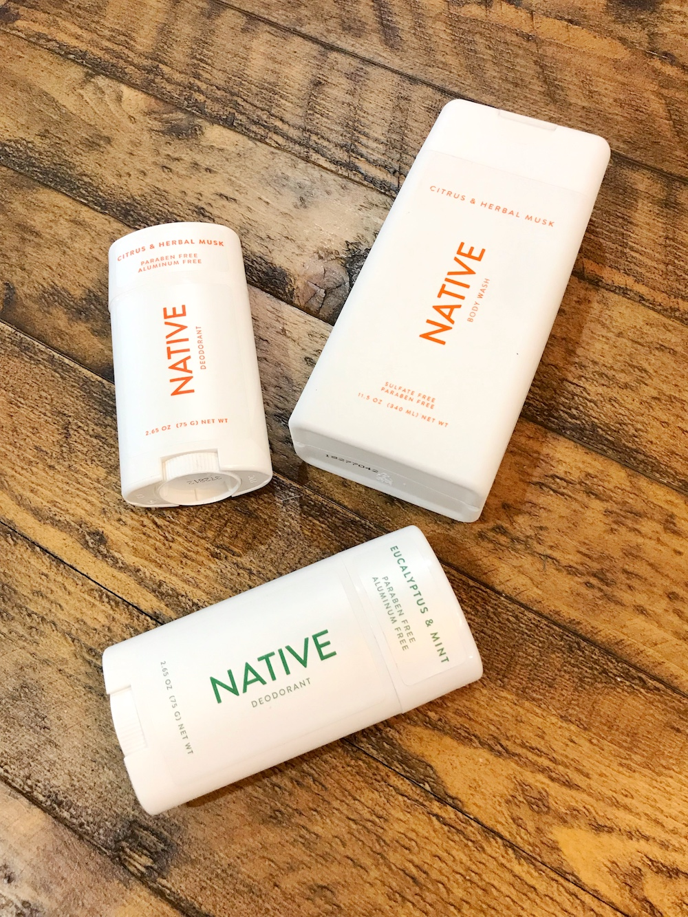Native Deodorant - flatlay