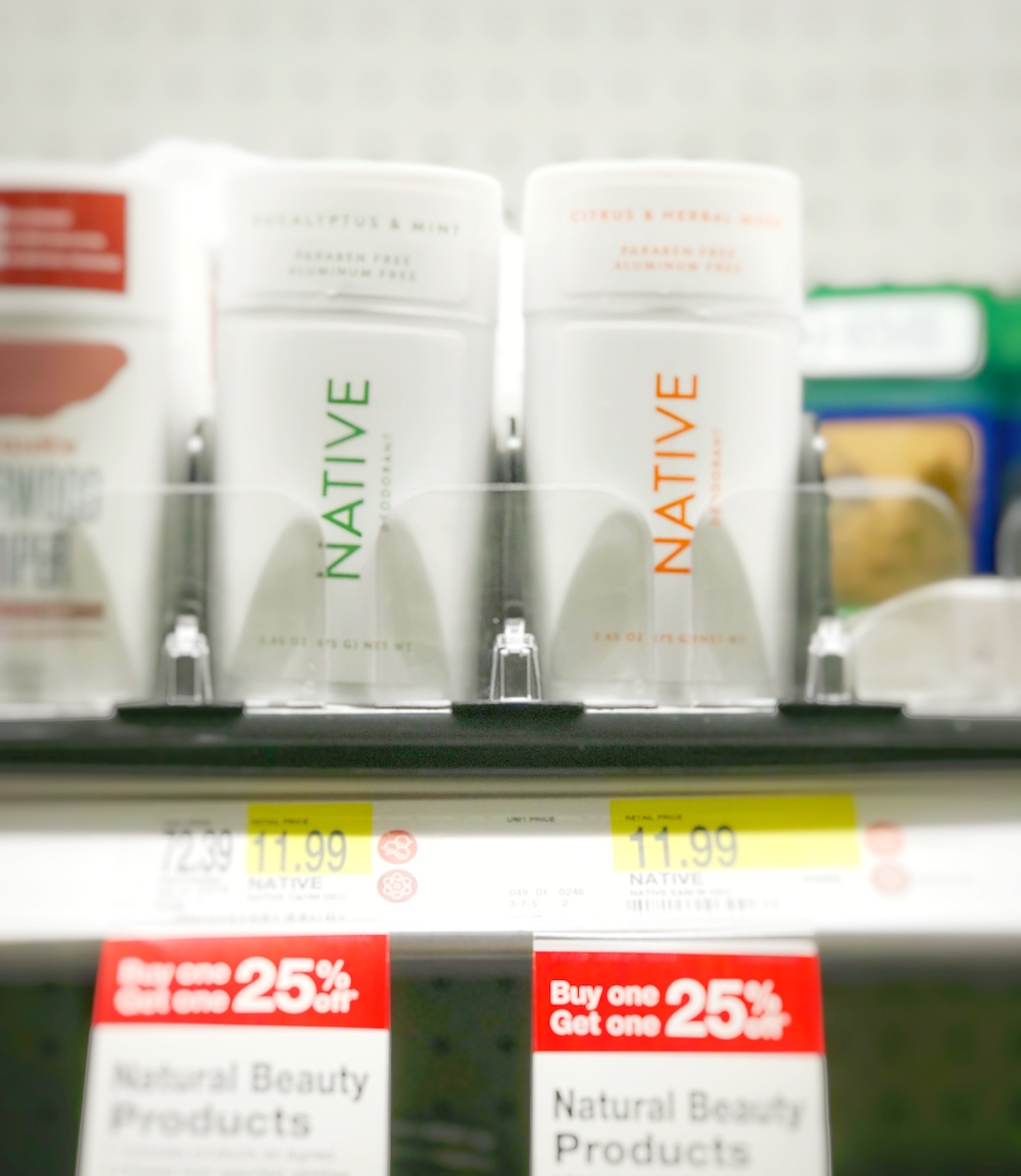 Native Deodorant - on Target shelf