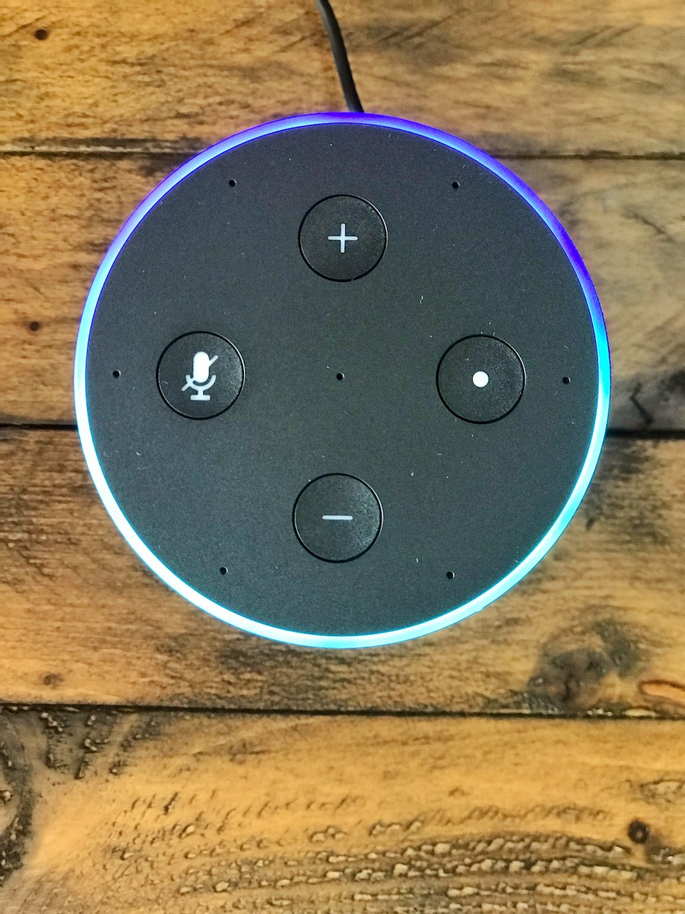 Amazon Echo top view